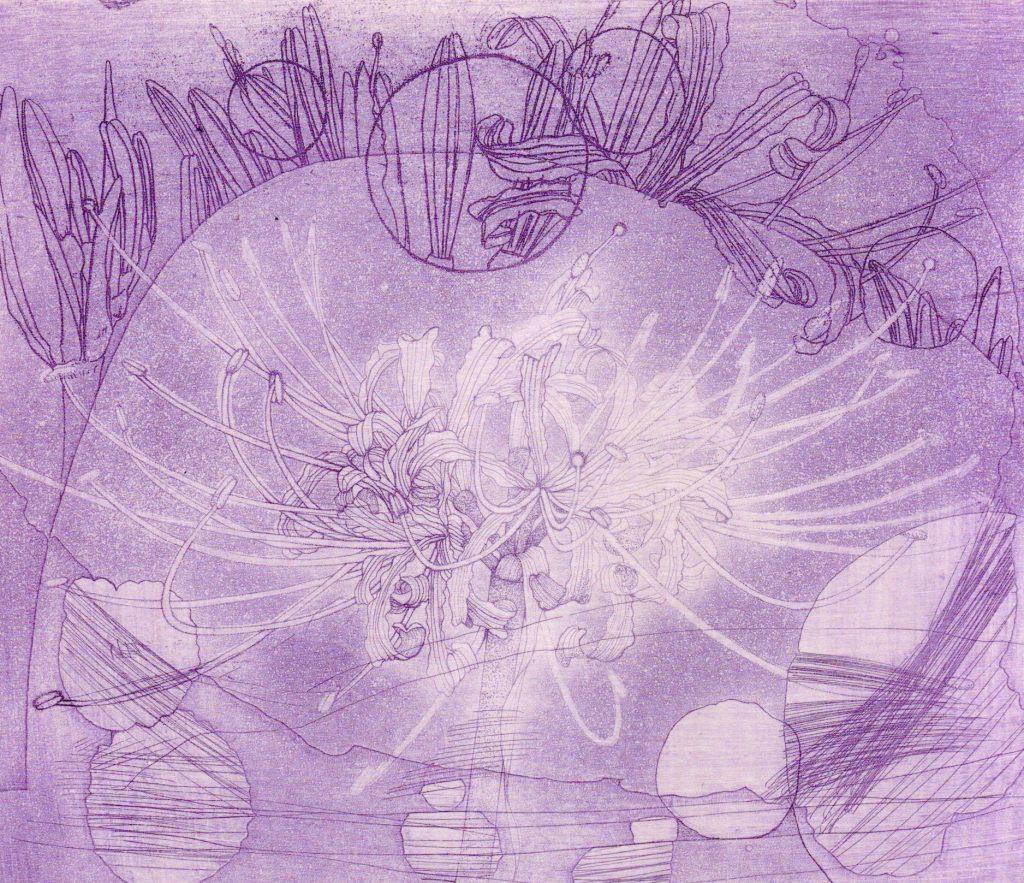 「光の華」銅版画